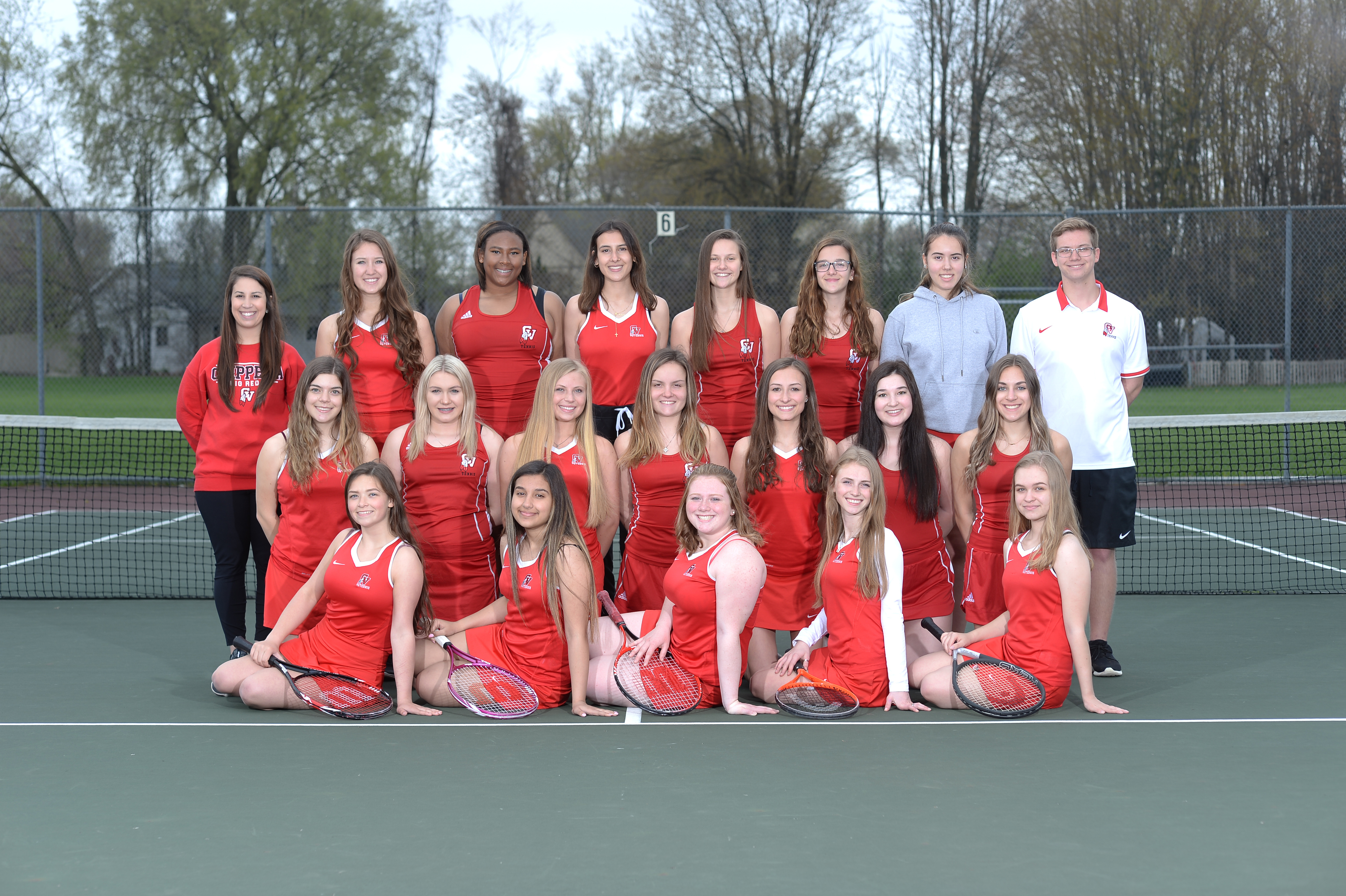 JV B Tennis Team